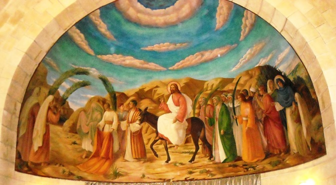 54. Jesus Entry to Jerusalem.