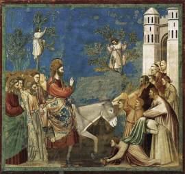 'Entrance into Jerusalem' by Giotto